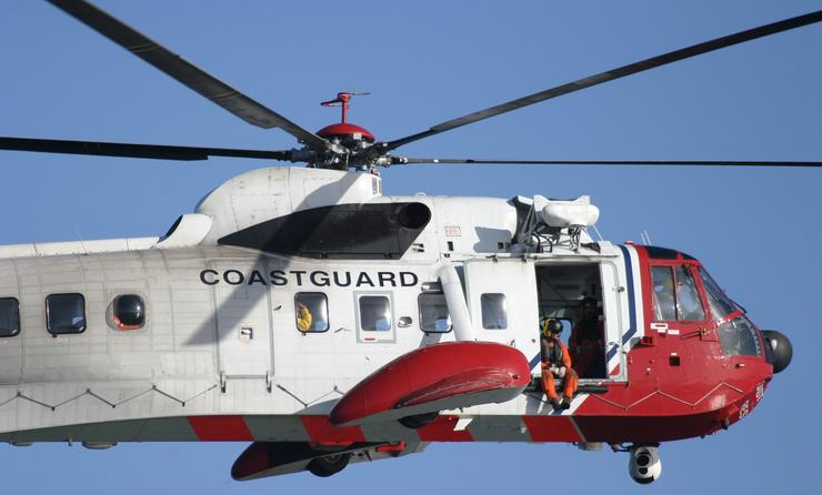 Coast Guard rescue helicopter.