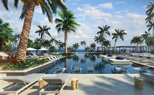 Poolside at UNICO 2087 Hotel Riviera Maya