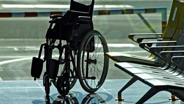 Wheelchair in an airport