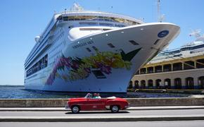 Norwegian Cruise Line ship in Havana