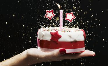 Birthday cake to celebrate.