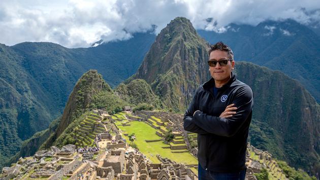 Bruce Poon Tip, G Adventures founder,  in Machu Picchu