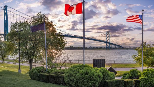The Ambassador Bridge, U.S. - Canada Trade Corridor.
