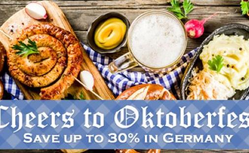 Cheers to Oktoberfest! Save up to 30% in Germany