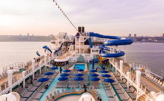Upper Deck of The Norwegian Encore, Norwegian Cruise Lines Newest Ship