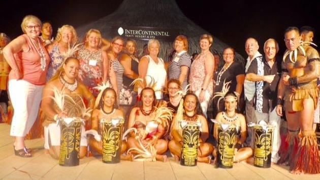 Les participants de l'éductour en Polynésie française.