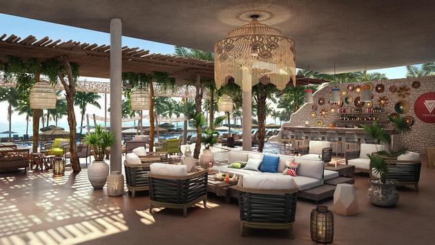 Rendering of The Beach Club at Bimini, Virgin Voyages