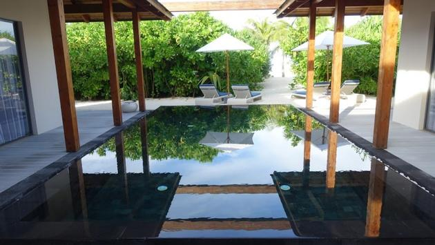 pool at Movenpick Resort Kuredhivaru in the Maldives