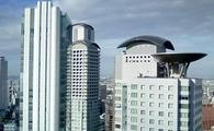 View from the 34th floor of Hilton Osaka