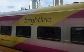 Brightline train in South Florida