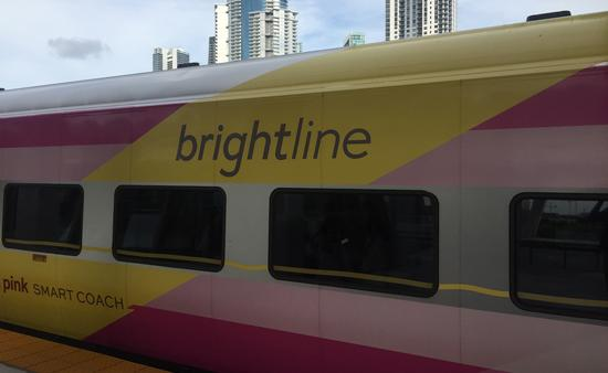 Brightline train in South Florida