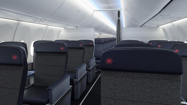 Vue de la classe Affaires, Air Canada