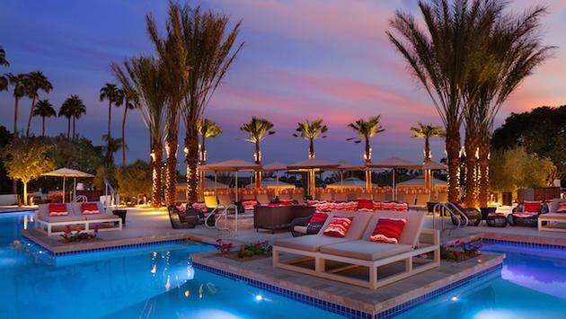 VIP pools at The Phoenician, Scottsdale, Arizona