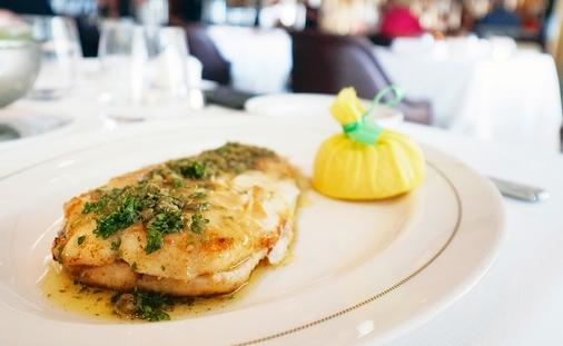 Delicious Dover Sole Meuniere from The Grill by Thomas Keller on Seabourn Encore