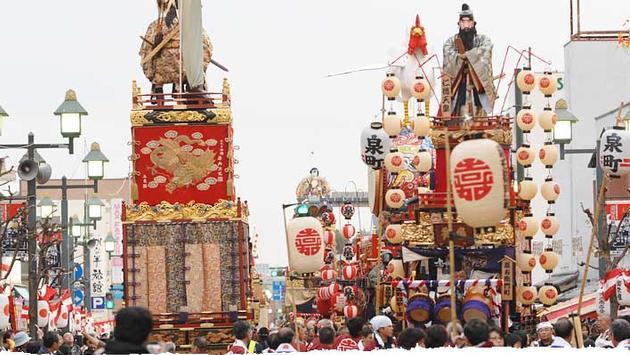 Biannual Tochigi Autumn Festival outside of Tokyo