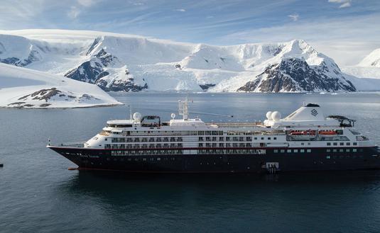 Silversea Expeditions' Silver Cloud in Antarctica