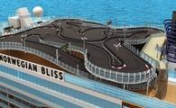 Rendering of the race track on Norwegian Cruise Line