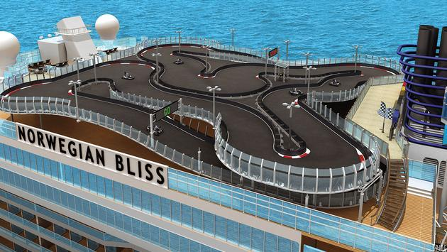 Rendering of the race track on Norwegian Cruise Line's Norwegian Bliss