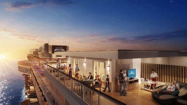 Set to debut in October 2019, the ship will feature two Sky Suites with the line's largest-ever private balconies, new pool and Jacuzzi concepts and expanded lounges. (Photo courtesy of Princess Cruises)
