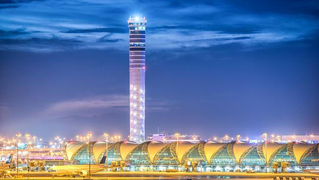 Suvarnabhumi Airport in Bangkok, Thailand