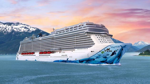 Norwegian Bliss Float Out Complete Christening Scheduled For May - How do cruise ships float