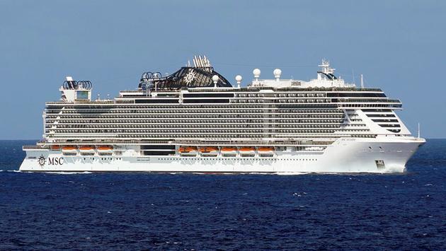 MSC Cruises' MSC Seaside sailing the Caribbean Sea