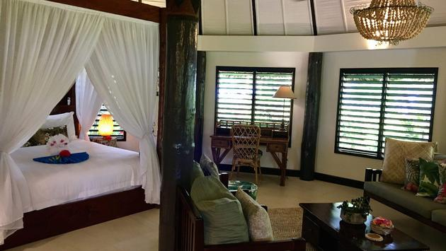A luxurious bungalow accommodation at Matangi Private Island Resort & Spa, Fiji