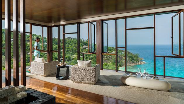 The hilltop spa at Four Seasons Resort Seychelles