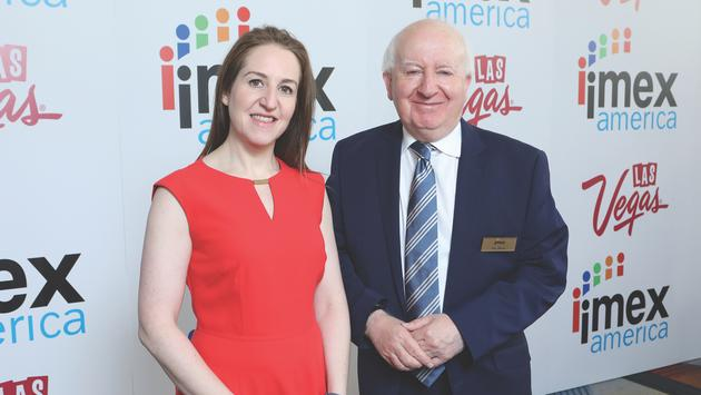 IMEX CEO, Carina Bauer and Chairman, Ray Bloom at the 2019 IMEX America event.