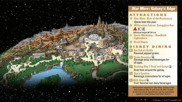 Star Wars Galaxy S Edge Guidemap At Disneyland