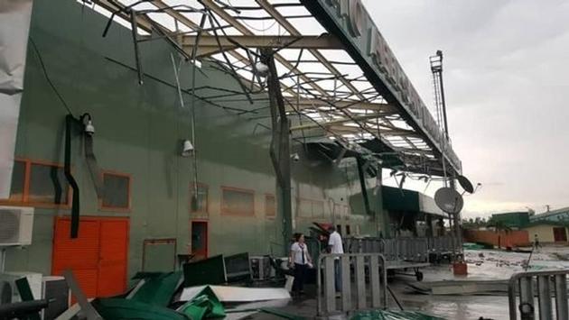 Santa Clara Cuba Airport Storm Damage