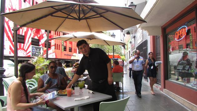 Tourists In Old San Juan, Puerto Rico