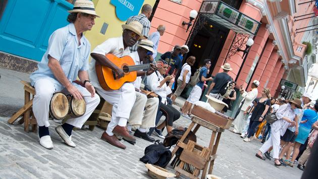 Musicians playing on the street of Havana, Cuba March 10th 2017. (photo courtesy of Golden_Brown / iStock Editorial / Getty Images Plus)