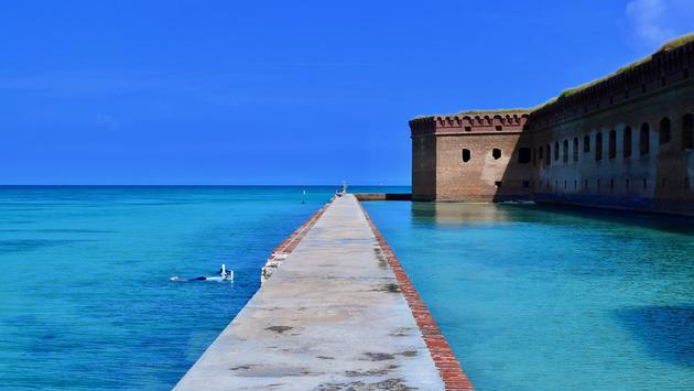 Moat Wall at Dry Tortugas National Park