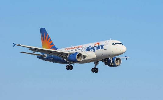 Allegiant Air Airbus approaching LAX