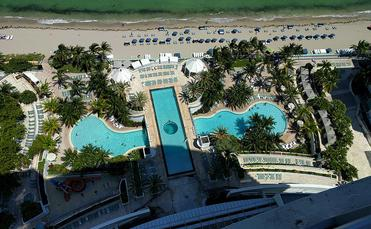 Balcony view Diplomat Beach Resort Hollywood Florida