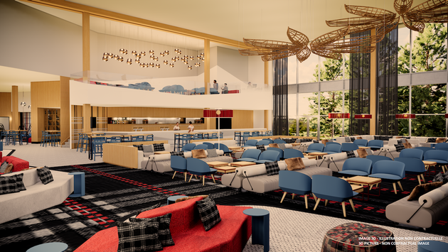 The multifunctional main bar at Club Med Quebec Charlevoix