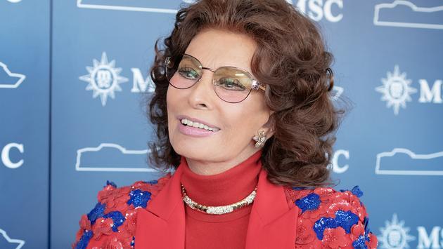 Sophia Loren, Godmother to MSC Grandiosa.