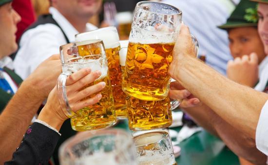 Beer at Oktoberfest in Munich, Germany.