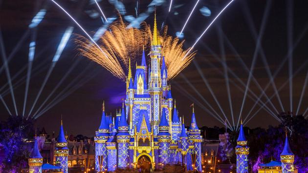 Firework over Cinderella's Castle