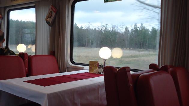 dining car, train, eurail