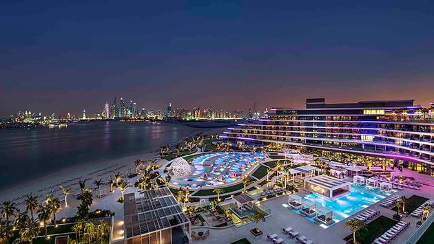 W Hotel, W Dubai, The Palm, Dubai, Hotel, nighttime