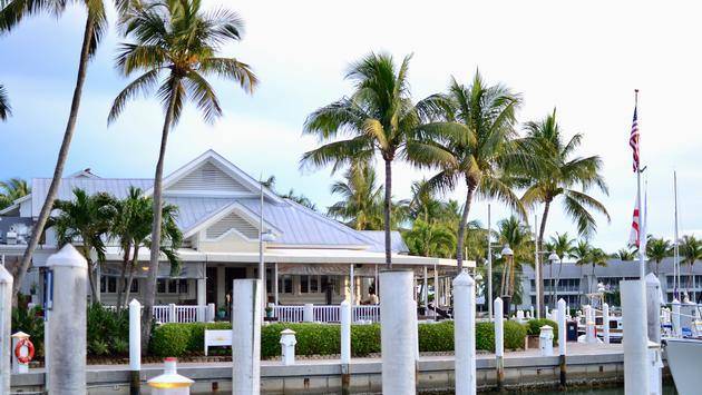 restaurant, palm trees, harbor, Harbourside Bar and Grille, South Seas Resort, Captiva Island