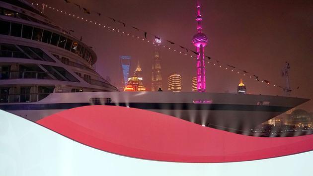 Viking Sun in Shanghai, China during its christening