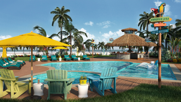 Pool area at Margaritaville Island Reserve by Karisma Riviera Cancun