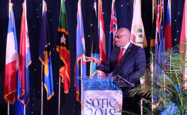 Bahamian Prime MInistter Dr. Hubert Minnis