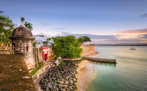 San Juan, Puerto Rico along Paseo de la Princesa