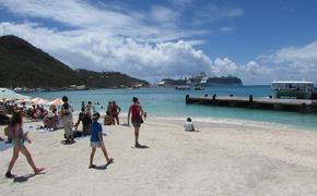Cruise ships in St. Maarten.