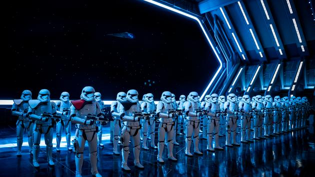 Stormtroopers for Walt Disney World's Rise of the Resistance at Star Wars: Galaxy's Edge