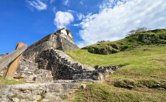 Xunantunich archaeological site of Mayan civilization in Belize